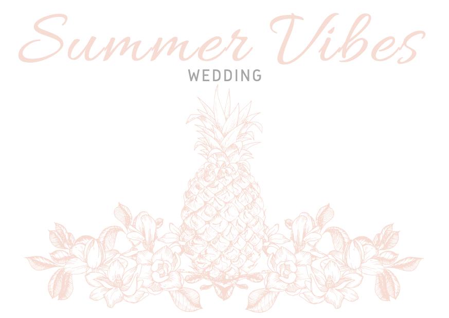 Summer Vibes Wedding